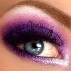 Bright purple eye make up. Just in case I go to another party or I'm Barbie for Halloween again Pretty Makeup, Love Makeup, Makeup Looks, Makeup Style, Gorgeous Makeup, Beauty Make-up, Beauty Hacks, Hair Beauty, Beauty Trends