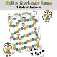 Free 4 Kinds of Sentences Game Reading Resources, Classroom Resources, Third Grade Math, Second Grade, Kinds Of Sentences, Learning Games, Educational Games, Math Games, Creative Teaching