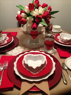 Valentine Table Setting Valentine's Day