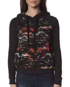 SURFSTITCH - WOMENS - JUMPERS AND HOODS - PULL OVER HOOD - HURLEY SIERRA POP FLEECE - FLAMO