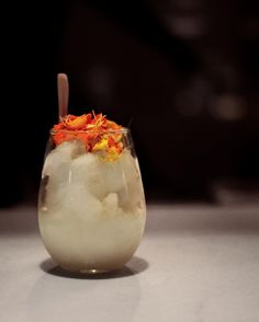 It's currently 80 degrees at night in Beverly Hills. Cool off with LN2 Caipirinha, Brazilian Cachaca, Fresh Lime and Sugar frozen by using liquid nitrogen served table-side.