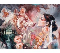 Wild & Beauty Fantasy Dreams - by Dimitra Milan - be artist be art magazine♥🌸♥