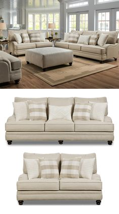Enhance your living space; enhance your life. The Willpower Collection by Corinthian is a great option if you are looking for a traditional sofa collection to upgrade your home. Traditional design elements like turned legs and sofa arms in a Charles of London design bring a calming sense of sophistication. Neutral shade fabric encases the sofa/loveseat and its plush cushions to give you a pleasing aesthetic. #shopgahs #livingroom #sofa #couch #loveseat #livingroomfurniture #ottoman #accentchair
