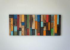 Articles similaires à Art mural bois sur Etsy Scrap Wood Art, Wooden Wall Art, Wooden Walls, Reclaimed Wood Art, Diy Wood, Wood Pieces, Art Pieces, Palette Deco, Rustic Art