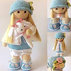 Risultati immagini per Cubby Amigurumi nativity #crochetdolls