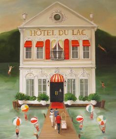 Details: Signed Fine Art Print Title: Hotel du Lac Image size: Approx 12x14. Paper size: 13x19 Printed using Epson Ultrachrome archival inks on heavyweight matte fine art paper ( 100% cotton rag). Signed and dated in pencil just below the image. This print is shipped in a cello sleeve and ro