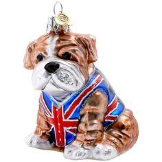 Buy Bombki Tourism Glass Little British Bulldog Bauble Online at johnlewis.com