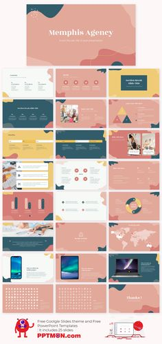 Memphis Agency Free Presentation Template – PowerPoint Template and Google Slides Theme