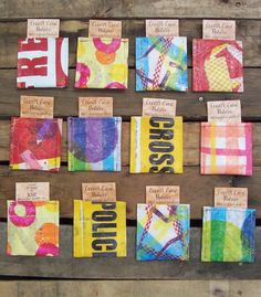 Party Favors Gift Card Wallets Fused Plastic set by ACleverSpark, $95.00