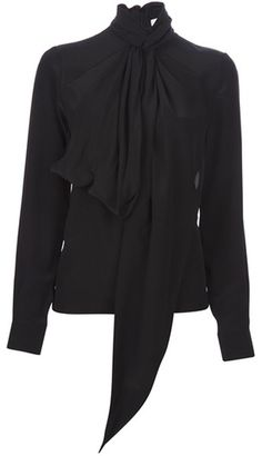 9fa91062a8d099 Women s Black Pussy Bow Blouse