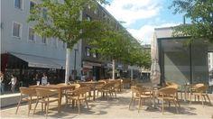 Außengastronomie am Marktplatz Rheydt
