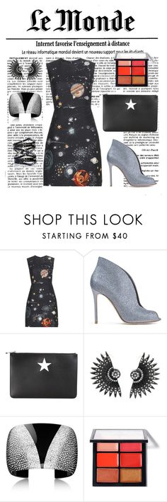 """""""Moonage Daydream"""" by lynnbin on Polyvore featuring Valentino, Gianvito Rossi, Givenchy, MAC Cosmetics, Eva Fehren, women's clothing, women, female, woman and misses"""