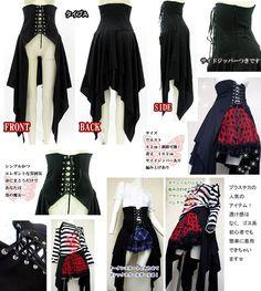 Plastica Net Shop | Rakuten Global Market: skirt Gothic Lolita costume play DragonballZ witch corset laceup irregular overskirt long cover skirt Gothic Lolita Harajuku of the skirt