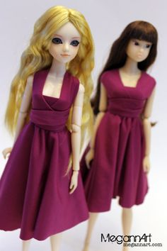J-doll and Momoko in infinity dresses