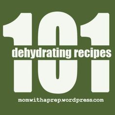 101 Dehydrating Recipes  |  Mom with a Prep {blog}  http://momwithaprep.wordpress.com/2013/06/21/101-dehydrating-recipes/