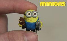 Bob the Minion bear and name | Polymer clay Minion BOB - minions 2015 - YouTube