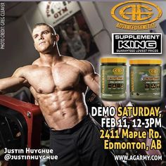 Grand Opening!!! #Repost @advancedgenetics  Demo Alert!!! This Saturday at @supplementkingedmonton's new Tamarack location: 2411 Maple Rd. With #bodybuilder @justinhuyghue!!! Grand Opening!!! #agarmy #contestprep #bodybuilding #fitness #lifestyle #demo #supplements #preworkout #muscle #fatloss #warfare #battlejuice #fit #instafit #edmonton @supplementkingcanada @supplementkingtamarack #follow