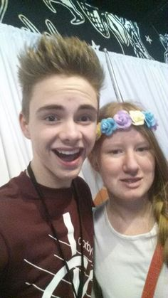 Corbyn Besson~ OMG he was so nice and hes such an amazing singer ( also amazing hugger but tbh they were all great huggers) 1/17/16
