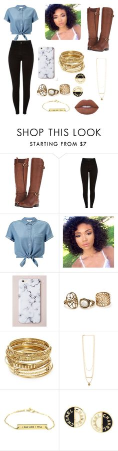 """""""Untitled #32"""" by gissellebeltre on Polyvore featuring Naturalizer, Miss Selfridge, ABS by Allen Schwartz, Chanel and Lime Crime"""