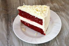 Recipe for Red Velvet Cheesecake Cake - 2 layers of red velvet with a layer of cheesecake inside- topped with cream cheese frosting.
