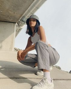 Outfits With Hats, Cute Casual Outfits, Mode Outfits, Girl Outfits, Fashion Outfits, Hipster Outfits For Teens, Hipster Clothing, Fashion Pics, Fashion Trends
