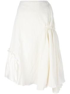 J.W.ANDERSON Gathered Asymmetric Skirt. #j.w.anderson #cloth #skirt