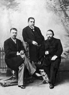Alexander Konstantinovich Glazunov (1865-1936) avec V.I.Safonov et M.M.Ippolitov - Ivanov. Vers 1890.