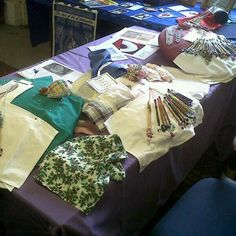 Bobbin lace demo at Pitstone Green Farm Museum