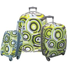 Hard Shell Luggage Sets | Rockland Fox Luggage PIECE POLYCARBONATE HARD CASE LUGGAGE SET from ...