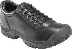 buy online 49ecf 37980 New Keen Mens Black Leather PTC Oxford Slip Resistant Dress Work Shoes Size  9