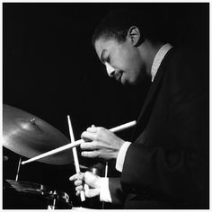 """ Tony Williams (December 1945 – February was an American jazz drummer. Widely regarded as one of the most important and influential jazz drummers to come to prominence in the. Jazz Artists, Jazz Musicians, Music Artists, Francis Wolff, Musician Photography, Foto Portrait, Vintage Drums, Cool Jazz, Jazz Club"