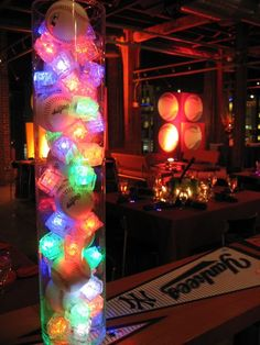 Light up cubes in centerpieces