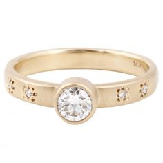Sarah Swell Starry Sky Diamond Solitaire Ring // ESQUELETO