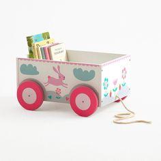 Book Storage Cart - Rosa Rabbit - Toy Boxes - Toy Storage