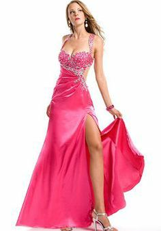 Delightful A line Natural Waist Straps Silk Like Satin Brush Train Prom Evening Dress - Lunadress.co.uk