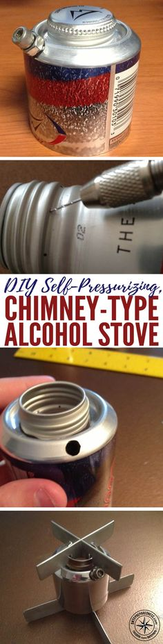 DIY Self-Pressurizing, Chimney-Type Alcohol Stove — If you want one of the most efficient survival cooking stoves known to man, you are at the right place... Don't spend a fortune on the big heavy propane stoves when you can make a self-pressurizing, chimney stove for cheap. This is a great project for anyone to try out.