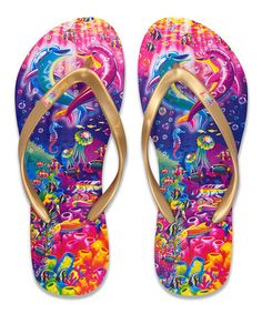 Look what I found on #zulily! Lisa Frank Dolphin Flip-Flops #zulilyfinds