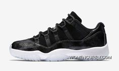 e18186e65c68 Air Jordan 11 Low Black Metallic Silver-White New Style