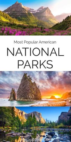 Most popular national parks to visit in the USA Mount Rainier National Park, Grand Teton National Park, Rocky Mountain National Park, Yellowstone National Park, Shenandoah National Park, Best National Parks Usa, American National Parks, Most Visited National Parks, Visit Yellowstone