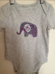 Baby clothes onesie elephant baby girl boy suit by catemoss, $12.00 https://www.etsy.com/shop/catemoss  Enter the code PINTEREST5 for $5 off when you spend $20 or more