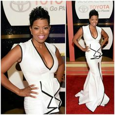 So pretty. Malinda Williams in an awesome dress. Designer?