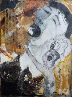 'Huidhonger' 1, Ine van den Heuvel, mixed media