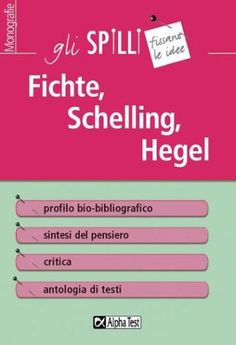 #Fichte schelling hegel  ad Euro 5.99 in #Granata giovanni #Book antichita