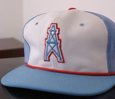 Vintage Houston Oilers NFL cap hat, New, Houston Oilers Number 1!  #HoustonOliers