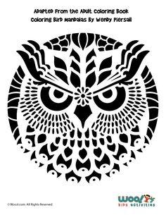 Owl Mandala Pumpkin - Woo! Jr. Kids Activities