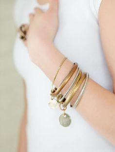 Trendy Jewelry | Twisted Silver | Celebrity Jewelry | Funky Jewelry - 7 Bracelet