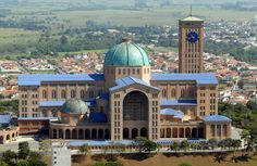 La misa nupcial ¡Las iglesias más impresionantes del mundo para casarse!Basílica de Nuestra Señora Aparecida (Brasil)