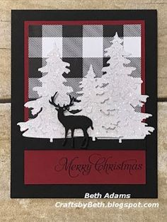 Crafts by Beth: Non Traditional Christmas Card cards Christmas Card Crafts, Homemade Christmas Cards, Christmas Cards To Make, Christmas Deer, Homemade Cards, Holiday Cards, Christmas Abbott, Cricut Christmas Cards, Christmas Countdown