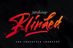 Blinded - Freestyle Logotype 25% OFF by Dirtyline Studio on @creativemarket
