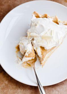 LAYERED WHITE CHOCOLATE PUMPKIN CREAM PIE